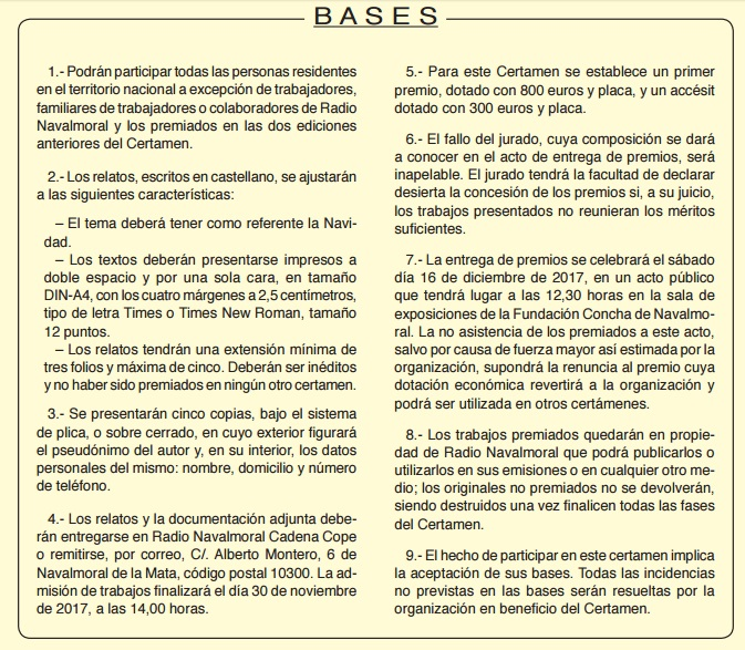 Bases Relatos Breves